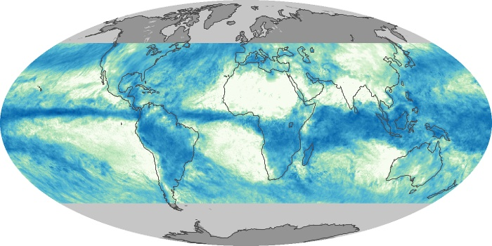 Global Map Total Rainfall Image 83