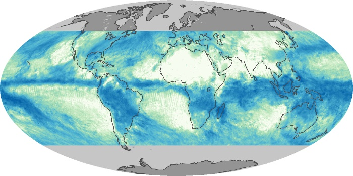 Global Map Total Rainfall Image 84