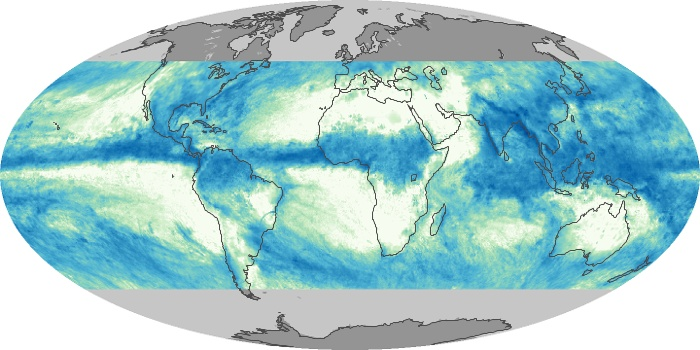 Global Map Total Rainfall Image 90