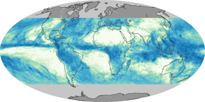 Global Map Total Rainfall Image 93