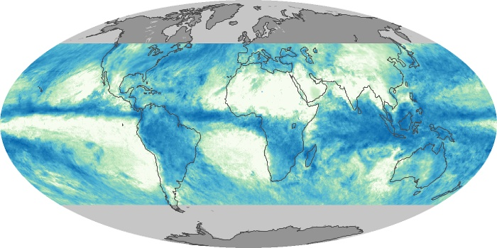 Global Map Total Rainfall Image 95