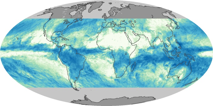 Global Map Total Rainfall Image 96