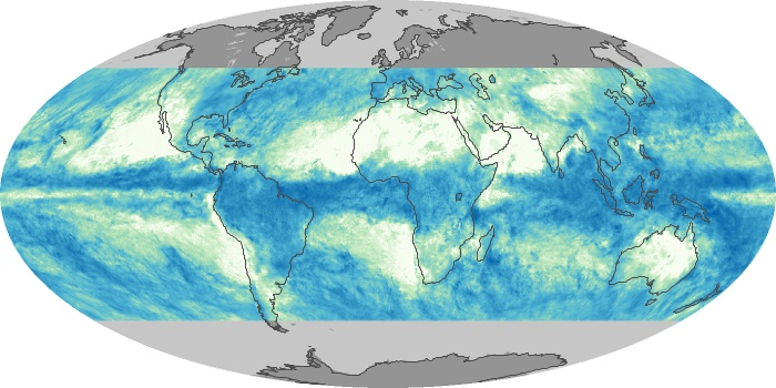 Global Map Total Rainfall Image 98