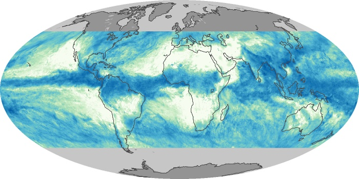 Global Map Total Rainfall Image 101