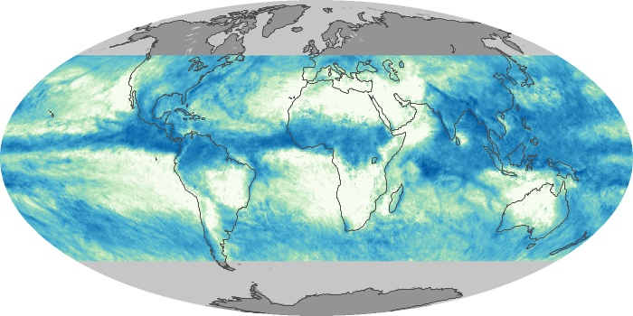 Global Map Total Rainfall Image 102
