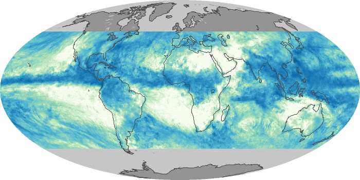 Global Map Total Rainfall Image 104