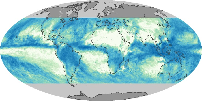 Global Map Total Rainfall Image 107