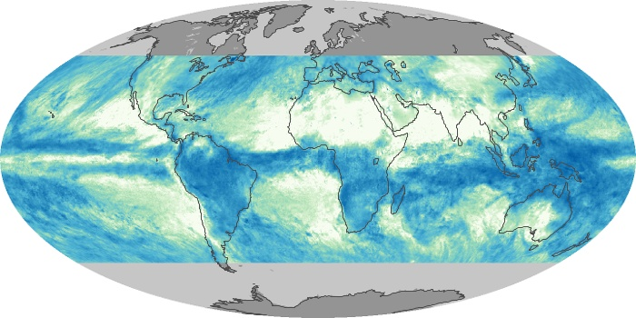 Global Map Total Rainfall Image 134