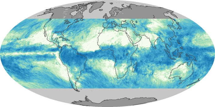 Global Map Total Rainfall Image 136