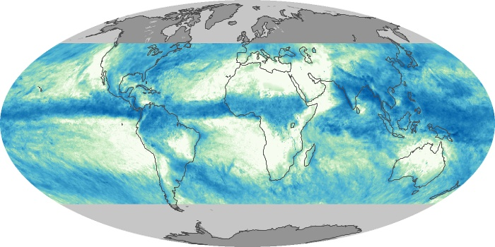 Global Map Total Rainfall Image 114