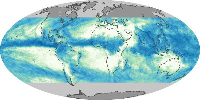 Global Map Total Rainfall Image 115