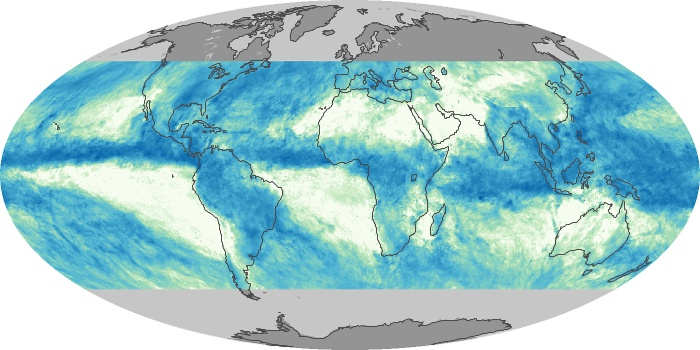 Global Map Total Rainfall Image 117