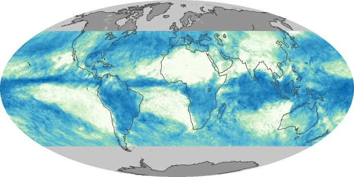 Global Map Total Rainfall Image 144