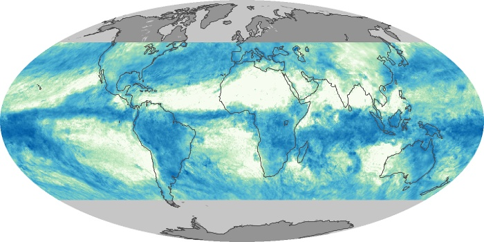 Global Map Total Rainfall Image 121