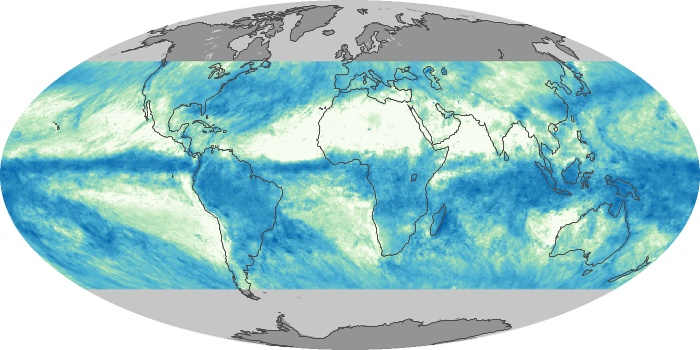 Global Map Total Rainfall Image 122