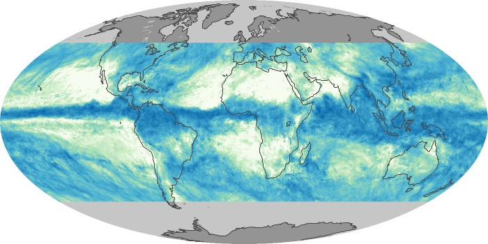 Global Map Total Rainfall Image 124