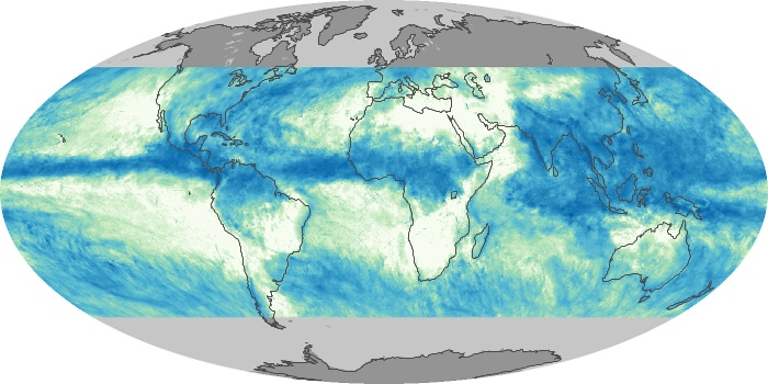 Global Map Total Rainfall Image 127