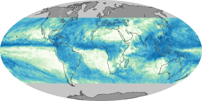 Global Map Total Rainfall Image 154