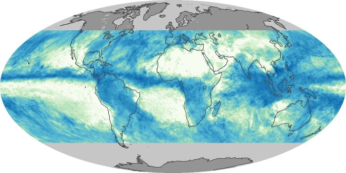 Global Map Total Rainfall Image 130