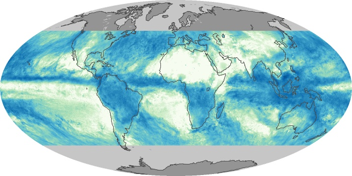 Global Map Total Rainfall Image 156