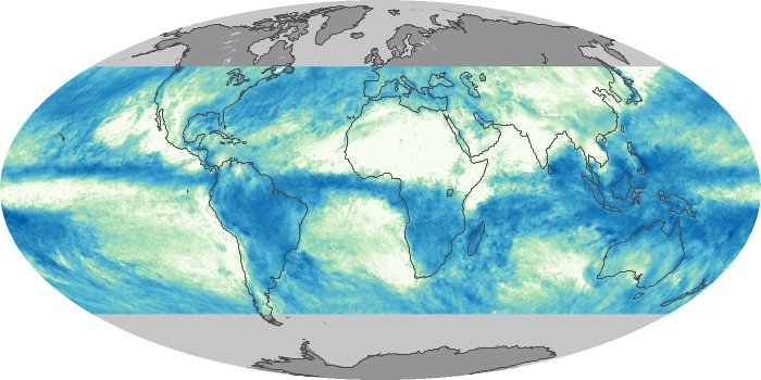 Global Map Total Rainfall Image 157