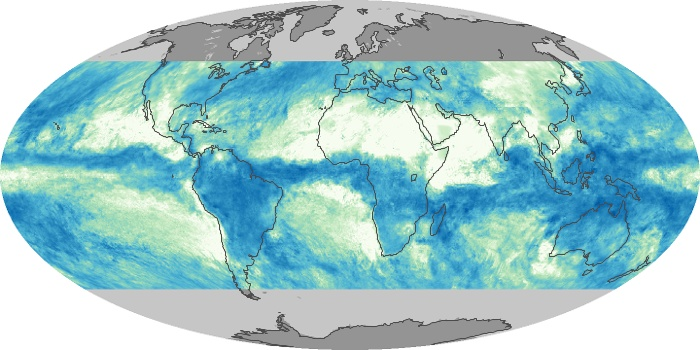 Global Map Total Rainfall Image 133