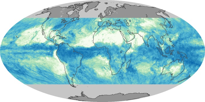Global Map Total Rainfall Image 135