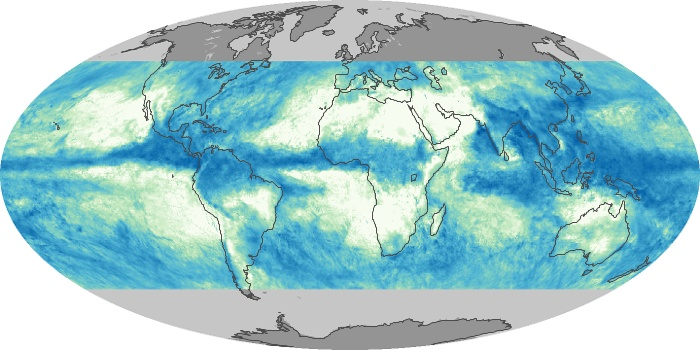 Global Map Total Rainfall Image 137