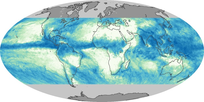 Global Map Total Rainfall Image 138