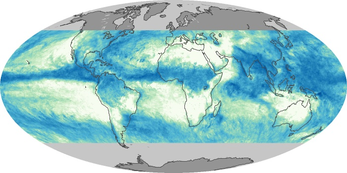 Global Map Total Rainfall Image 62