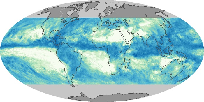 Global Map Total Rainfall Image 64
