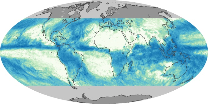 Global Map Total Rainfall Image 66