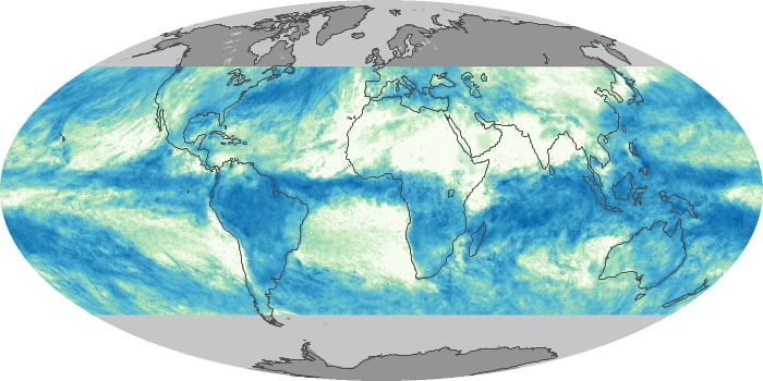 Global Map Total Rainfall Image 145
