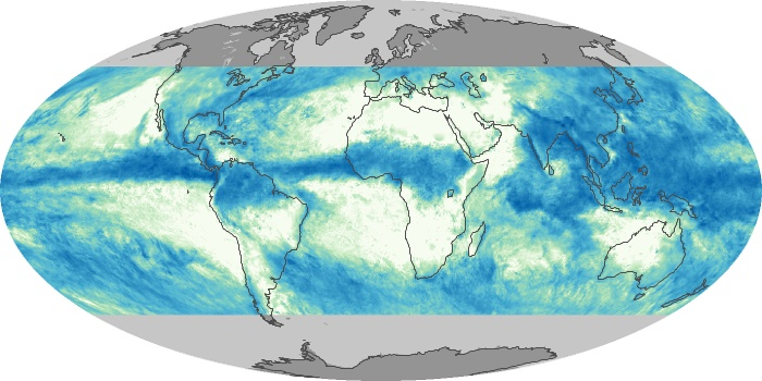 Global Map Total Rainfall Image 150