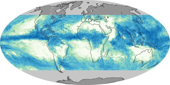 Global Map Total Rainfall Image 151