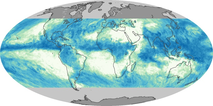 Global Map Total Rainfall Image 152