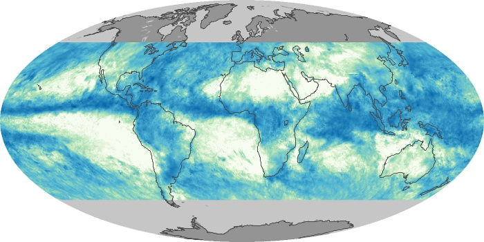 Global Map Total Rainfall Image 153