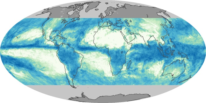 Global Map Total Rainfall Image 155