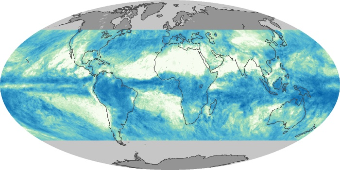 Global Map Total Rainfall Image 158