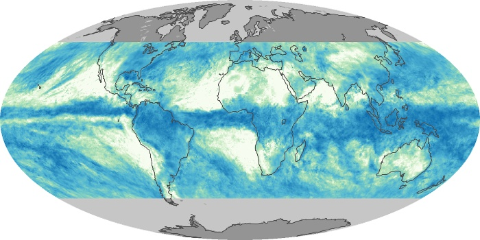 Global Map Total Rainfall Image 159