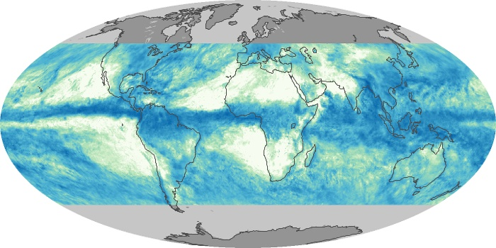Global Map Total Rainfall Image 160