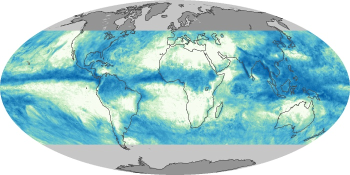 Global Map Total Rainfall Image 85