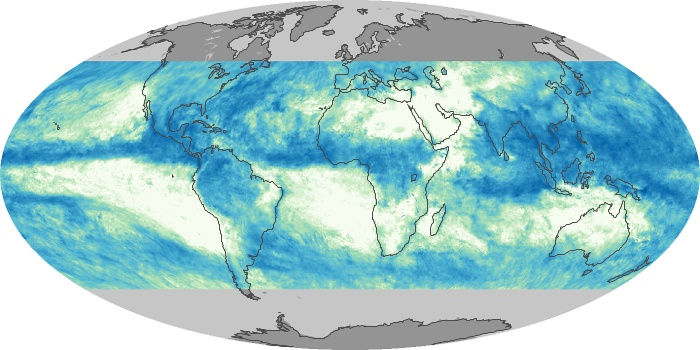 Global Map Total Rainfall Image 164