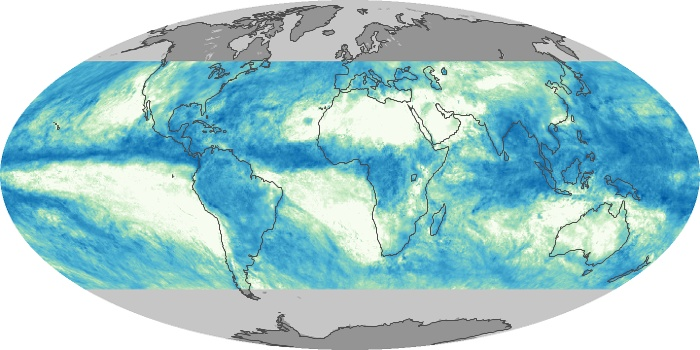 Global Map Total Rainfall Image 88