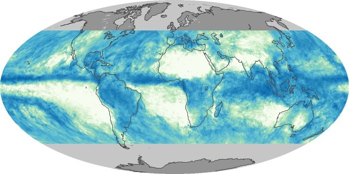 Global Map Total Rainfall Image 89