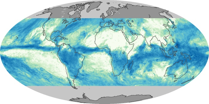 Global Map Total Rainfall Image 91