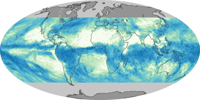 Global Map Total Rainfall Image 170
