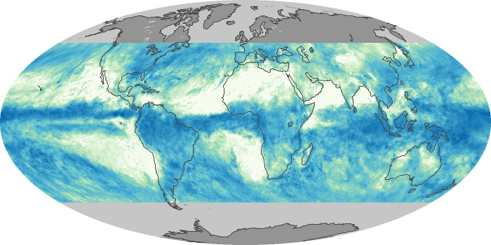Global Map Total Rainfall Image 171