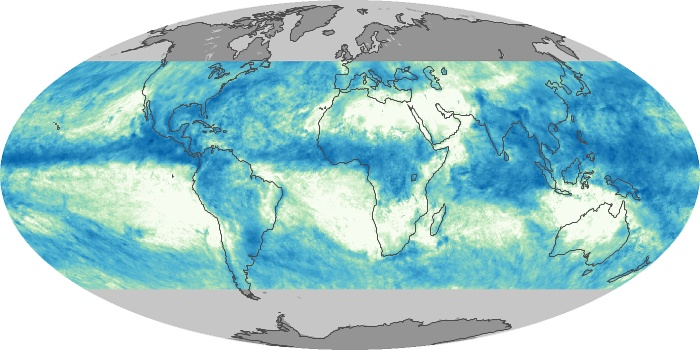 Global Map Total Rainfall Image 176