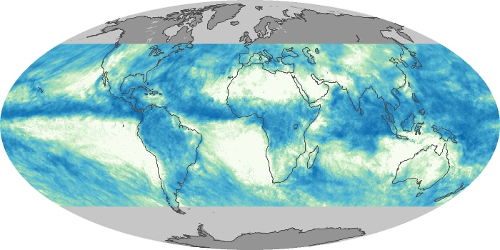 Global Map Total Rainfall Image 100